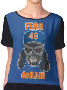Fear deHair (w/ Orange Lettering) Chiffon Top