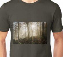 Sunlight Through Misty Trees Unisex T-Shirt