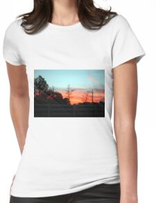Colorful Sky Womens Fitted T-Shirt