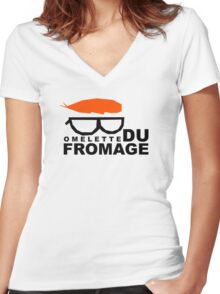 Omelette du fromage Women's Fitted V-Neck T-Shirt