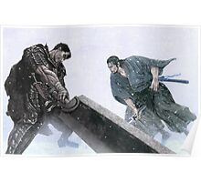 """""""Guts from Berserk vs Musashi from Vagabond"""" Poster"""