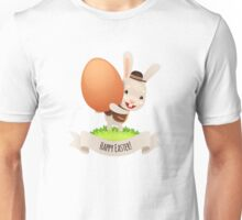 Happy Easter Bunny With Egg Unisex T-Shirt
