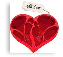 Valentines anatomy heart Canvas Print