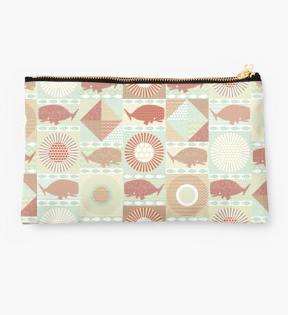 geo whales natural Studio Pouch