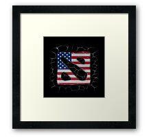 American Dota Framed Print
