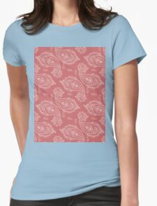 Coral Paisley Aztec Tribal Indian Pattern Womens Fitted T-Shirt