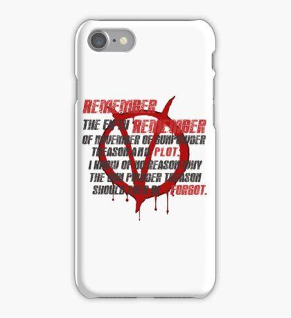 v for vendetta quote  iPhone Case/Skin