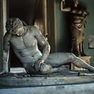 Copy of Bronze Galata Morente arle Pergamena 241-197 BC New Palace Museum Rome Italy 19840719 0020 by Fred Mitchell