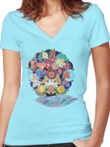 TERRA Women's Fitted V-Neck T-Shirt
