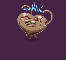 Valentines hearts angry robot Unisex T-Shirt