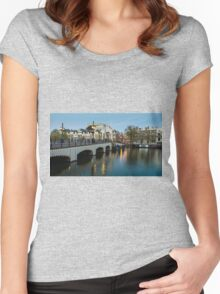 Magere Brug Amsterdam Women's Fitted Scoop T-Shirt