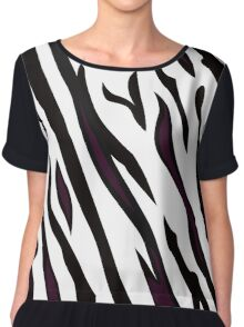 Safari zebra pattern or texture Chiffon Top