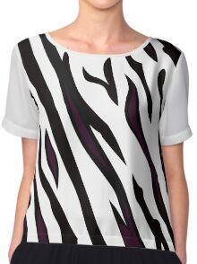 Safari zebra pattern or texture Chiffon Top