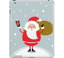 Happy Santa Illustration for christmas card iPad Case/Skin
