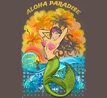 Aloha Paradise Retro Wood Unisex T-Shirt