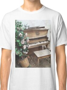 Vintage Piano & Flowers Classic T-Shirt