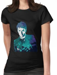The Tenth Doctor Color Splash  Womens Fitted T-Shirt