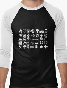 Icon Speak Men's Baseball ¾ T-Shirt