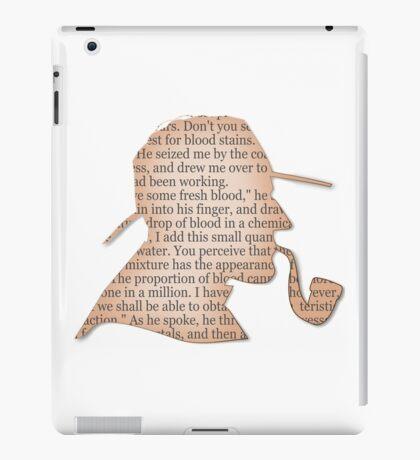 Silhouette Sherlock Holmes  iPad Case/Skin