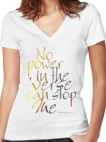 No Power in the 'Verse can stop Me, Browncoats Forever Women's Fitted V-Neck T-Shirt