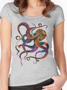 Electric Octopus Women's Fitted Scoop T-Shirt
