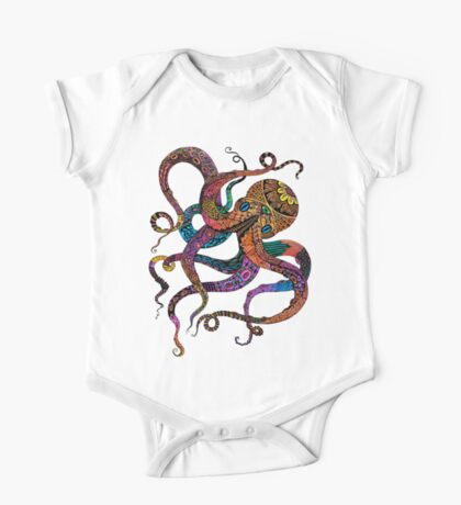 Electric Octopus One Piece - Short Sleeve
