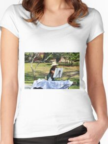 Artist At The Park Women's Fitted Scoop T-Shirt