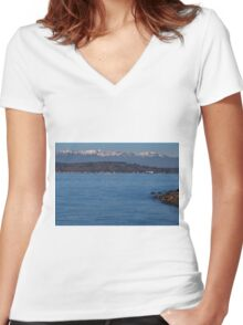 Soothing Waters Women's Fitted V-Neck T-Shirt