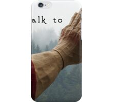 Talk to the Hand - Giant Lumberjack Statue Hand Sarcasm Humor iPhone Case/Skin