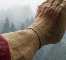 Talk to the Hand - Giant Lumberjack Statue Hand Sarcasm Humor Sticker