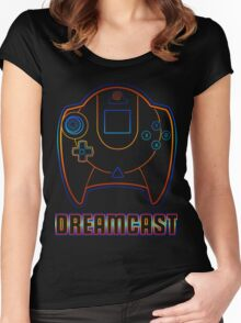 Dreamcast Neon Women's Fitted Scoop T-Shirt