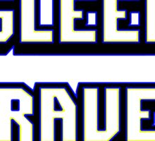 Eat Sleep Rave Repeat - Electric Blue Sticker