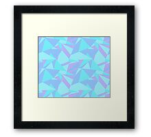 Mint, Blue, and Purple Shattered Geometric Shards (Seamless Pattern) Framed Print