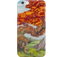 Red Tree Foxes iPhone Case/Skin