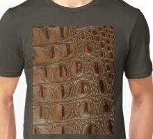 2D Photo-sampled Faux-Crocodile Leather-effect Unisex T-Shirt