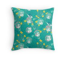 Folksy Flappers Throw Pillow