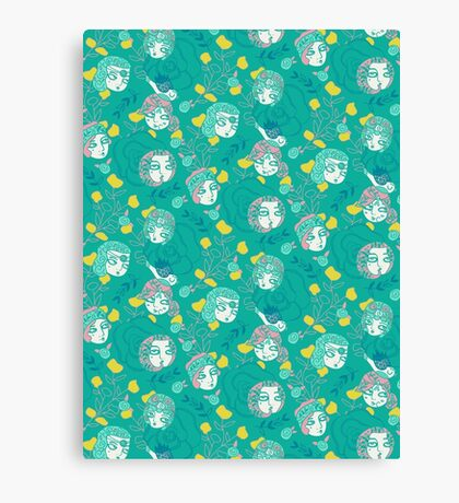 Folksy Flappers Canvas Print