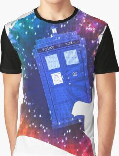 The Eleventh Doctor Silhouette with TARDIS Graphic T-Shirt