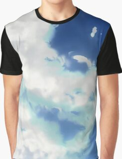 Painted Clouds Graphic T-Shirt