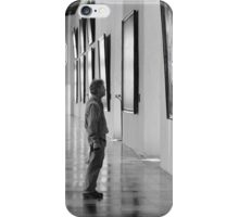 Black and White Pensive iPhone and iPod Cases iPhone Case/Skin