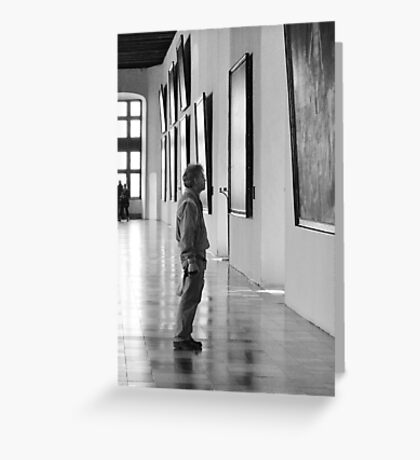 Black and White Pensive iPhone and iPod Cases Greeting Card