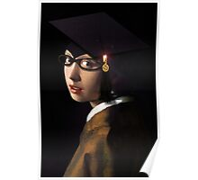 Girl with the Graduation Cap & Glasses Poster