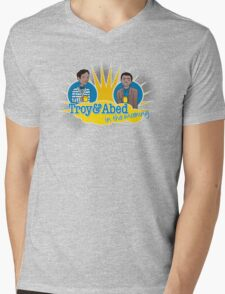 Troy and Abed in the Morning Mens V-Neck T-Shirt