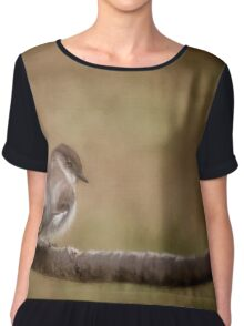 Big Headed Flycatcher Chiffon Top