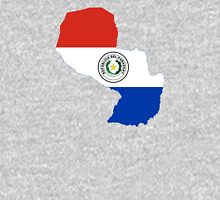 Flag Map of Paraguay  Unisex T-Shirt