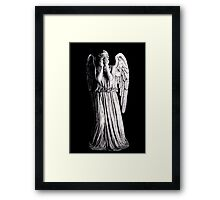 Weeping Angel - Don't Blink Framed Print