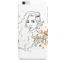 Black and gold ink drawing iPhone Case/Skin