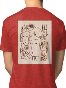 Japanese Bamboo Forest Tri-blend T-Shirt