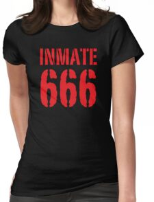 Inmate 666 funny Halloween costume Womens Fitted T-Shirt