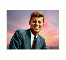 Colorized John F. Kennedy Art Print